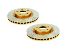 DBA X-Gold Drilled & Slotted Rear Brake Rotors